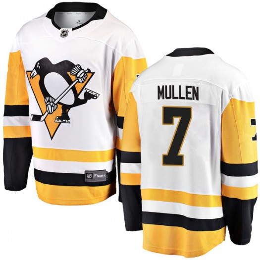 Joe Mullen Pittsburgh Penguins Men's Fanatics Branded White Breakaway Away Jersey