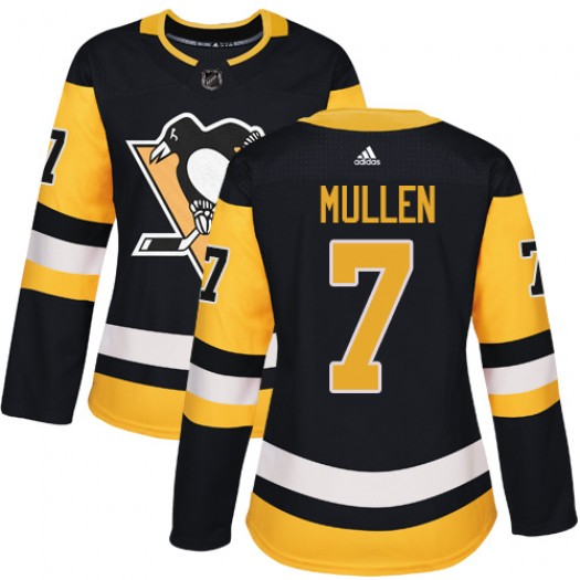 Joe Mullen Pittsburgh Penguins Women's Adidas Authentic Black Home Jersey