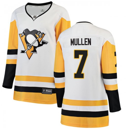 Joe Mullen Pittsburgh Penguins Women's Fanatics Branded White Breakaway Away Jersey