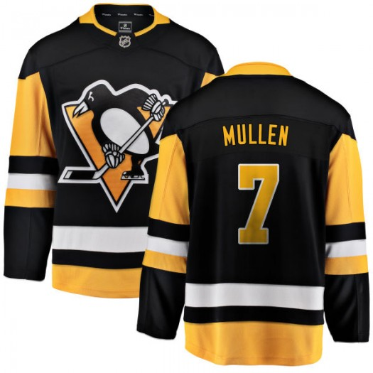 Joe Mullen Pittsburgh Penguins Youth Fanatics Branded Black Home Breakaway Jersey