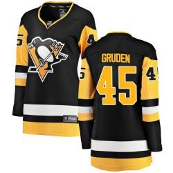 Jonathan Gruden Pittsburgh Penguins Women's Fanatics Branded Black Breakaway Home Jersey