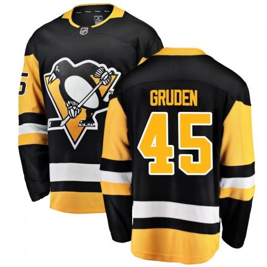 Jonathan Gruden Pittsburgh Penguins Youth Fanatics Branded Black Breakaway Home Jersey