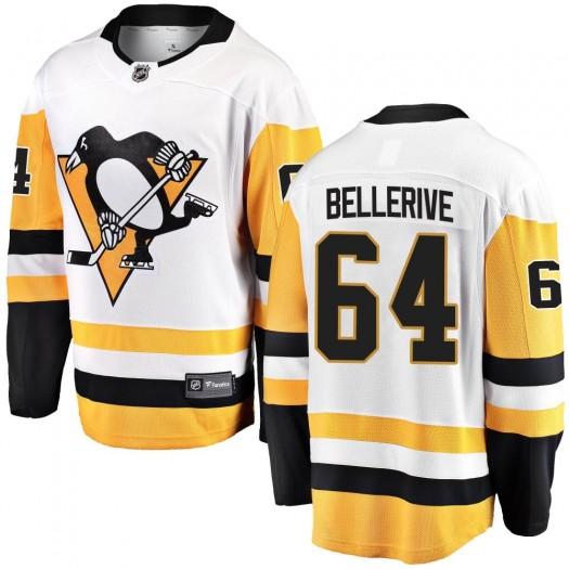 Jordy Bellerive Pittsburgh Penguins Men's Fanatics Branded White Breakaway Away Jersey