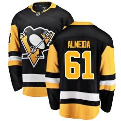 Justin Almeida Pittsburgh Penguins Men's Fanatics Branded Black Breakaway Home Jersey