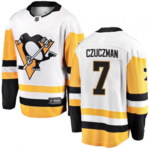 Kevin Czuczman Pittsburgh Penguins Men's Fanatics Branded White ized Breakaway Away Jersey