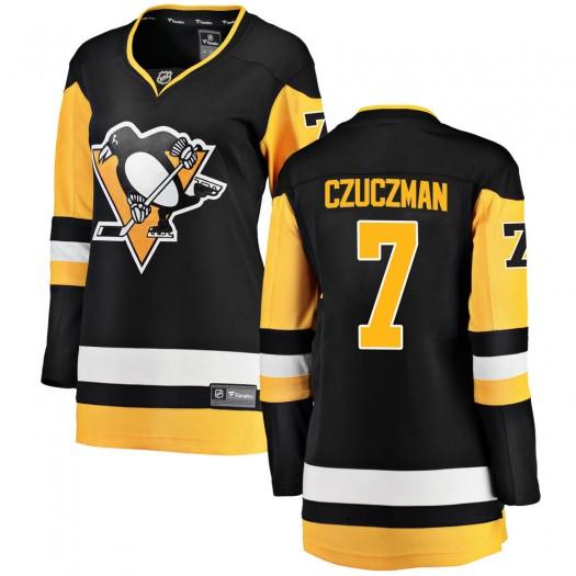 Kevin Czuczman Pittsburgh Penguins Women's Fanatics Branded Black ized Breakaway Home Jersey