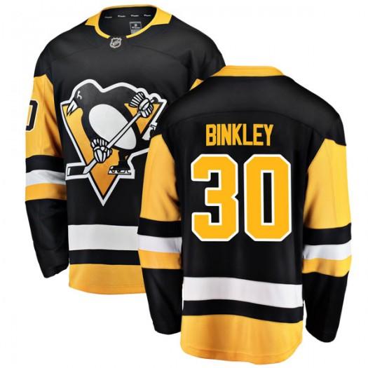 Les Binkley Pittsburgh Penguins Youth Fanatics Branded Black Breakaway Home Jersey