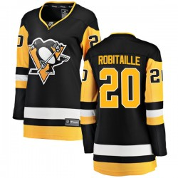 Luc Robitaille Pittsburgh Penguins Women's Fanatics Branded Black Breakaway Home Jersey