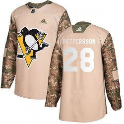 Marcus Pettersson Pittsburgh Penguins Men's Adidas Authentic Camo Veterans Day Practice Jersey