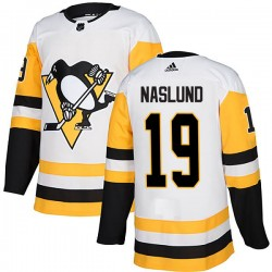 Markus Naslund Pittsburgh Penguins Men's Adidas Authentic White Away Jersey