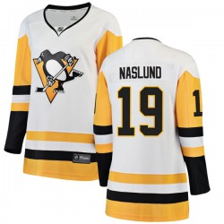Markus Naslund Pittsburgh Penguins Women's Fanatics Branded White Breakaway Away Jersey