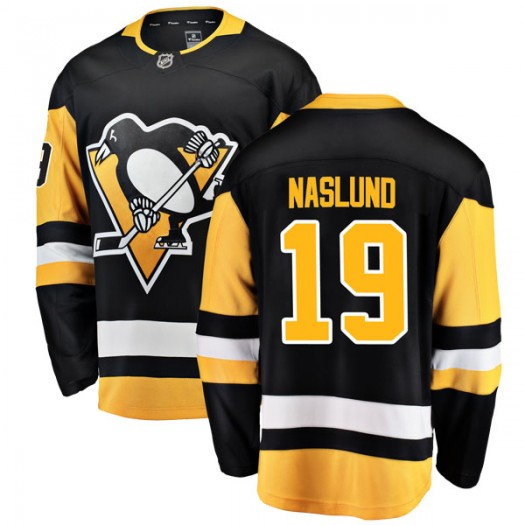 Markus Naslund Pittsburgh Penguins Youth Fanatics Branded Black Breakaway Home Jersey