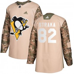 Martin Straka Pittsburgh Penguins Men's Adidas Authentic Camo Veterans Day Practice Jersey