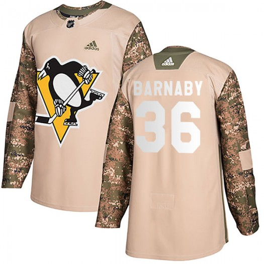 Matthew Barnaby Pittsburgh Penguins Men's Adidas Authentic Camo Veterans Day Practice Jersey