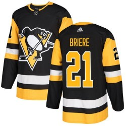 Michel Briere Pittsburgh Penguins Youth Adidas Authentic Black Home Jersey