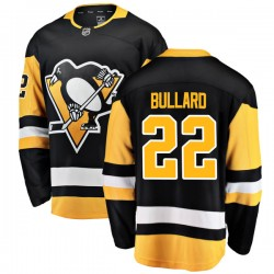 Mike Bullard Pittsburgh Penguins Men's Fanatics Branded Black Breakaway Home Jersey
