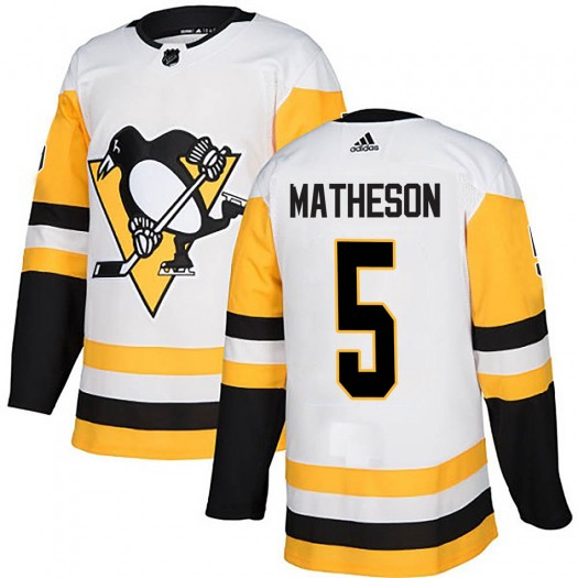 Mike Matheson Pittsburgh Penguins Men's Adidas Authentic White Away Jersey