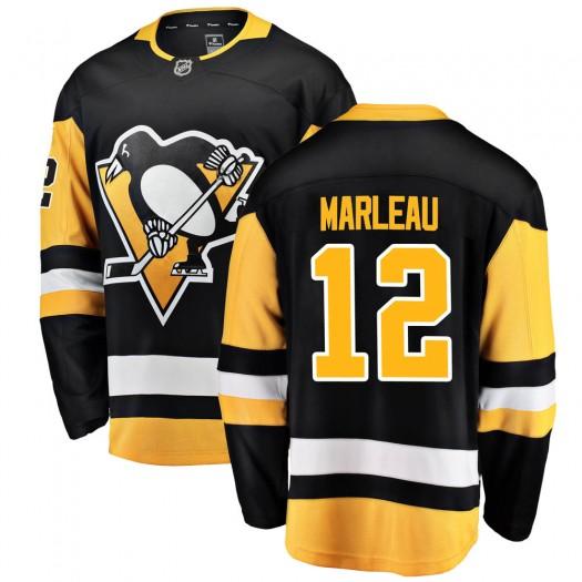 Patrick Marleau Pittsburgh Penguins Men's Fanatics Branded Black ized Breakaway Home Jersey