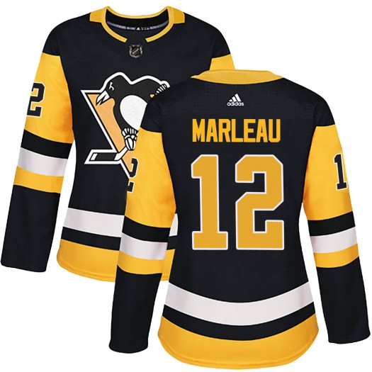 Patrick Marleau Pittsburgh Penguins Women's Adidas Authentic Black ized Home Jersey