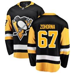 Radim Zohorna Pittsburgh Penguins Men's Fanatics Branded Black Breakaway Home Jersey