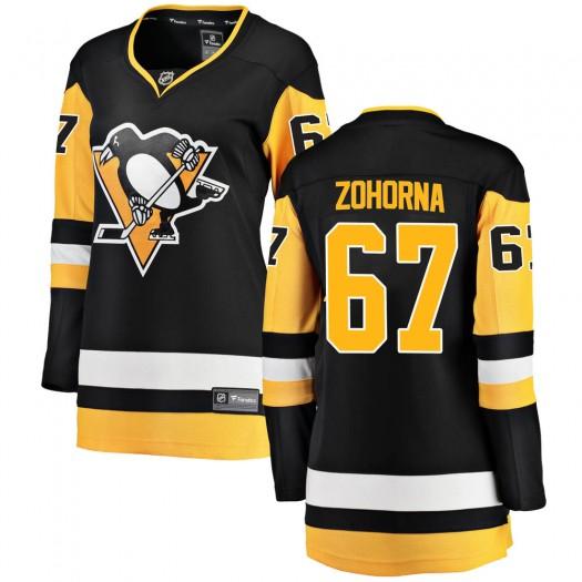 Radim Zohorna Pittsburgh Penguins Women's Fanatics Branded Black Breakaway Home Jersey