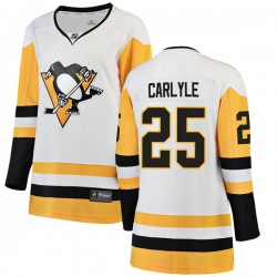 Randy Carlyle Pittsburgh Penguins Women's Fanatics Branded White Breakaway Away Jersey