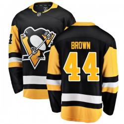 Rob Brown Pittsburgh Penguins Men's Fanatics Branded Black Breakaway Home Jersey