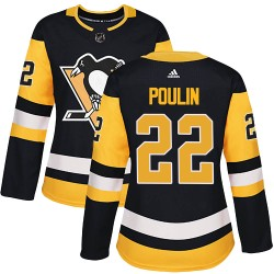 Samuel Poulin Pittsburgh Penguins Women's Adidas Authentic Black Home Jersey