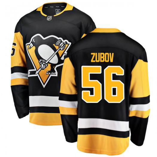 Sergei Zubov Pittsburgh Penguins Men's Fanatics Branded Black Breakaway Home Jersey