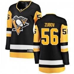 Sergei Zubov Pittsburgh Penguins Women's Fanatics Branded Black Breakaway Home Jersey
