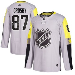 Sidney Crosby Pittsburgh Penguins Men's Adidas Authentic Gray 2018 All-Star Metro Division Jersey