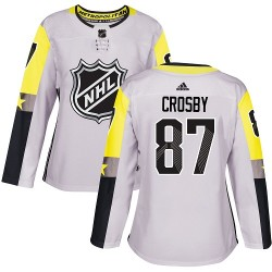 Sidney Crosby Pittsburgh Penguins Women's Adidas Authentic Gray 2018 All-Star Metro Division Jersey