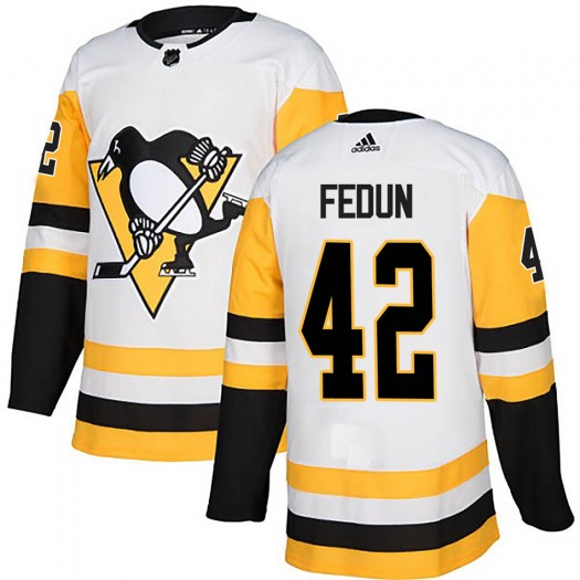 Taylor Fedun Pittsburgh Penguins Youth Adidas Authentic White Away Jersey