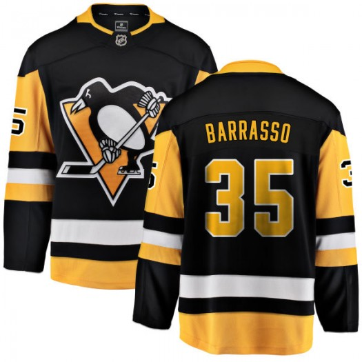 Tom Barrasso Pittsburgh Penguins Men's Fanatics Branded Black Home Breakaway Jersey