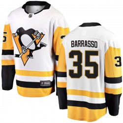 Tom Barrasso Pittsburgh Penguins Men's Fanatics Branded White Breakaway Away Jersey