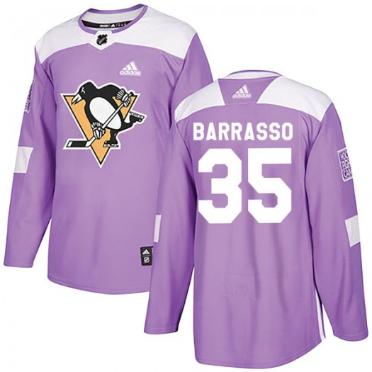 Tom Barrasso Pittsburgh Penguins Youth Adidas Authentic Purple Fights Cancer Practice Jersey