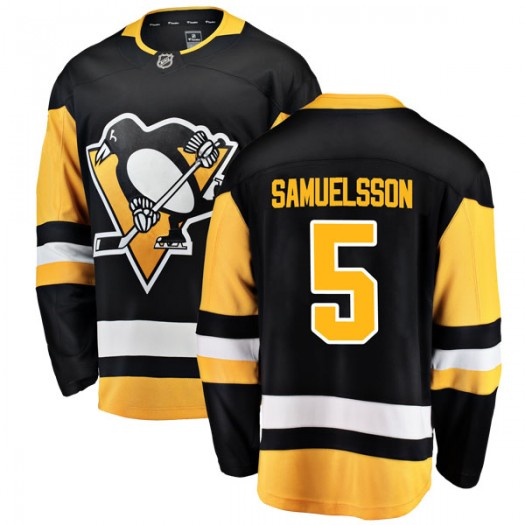Ulf Samuelsson Pittsburgh Penguins Men's Fanatics Branded Black Breakaway Home Jersey