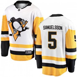 Ulf Samuelsson Pittsburgh Penguins Men's Fanatics Branded White Breakaway Away Jersey