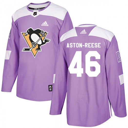 Zach Aston-Reese Pittsburgh Penguins Youth Adidas Authentic Purple Fights Cancer Practice Jersey