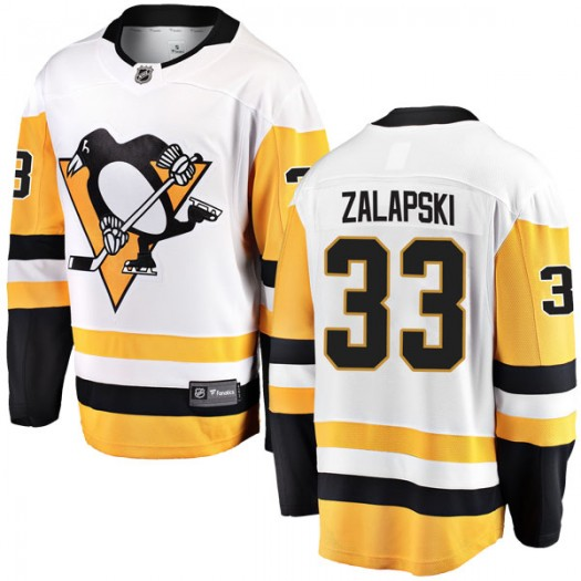 Zarley Zalapski Pittsburgh Penguins Men's Fanatics Branded White Breakaway Away Jersey