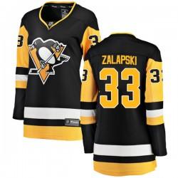 Zarley Zalapski Pittsburgh Penguins Women's Fanatics Branded Black Breakaway Home Jersey