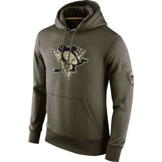 Pittsburgh Penguins Men's Nike Olive Salute To Service KO Performance Hoodie