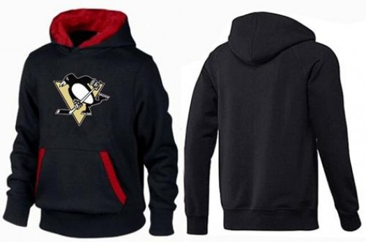 Pittsburgh Penguins Men's Black/Red Big & Tall Logo Pullover Hoodie