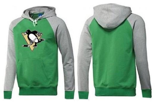 Pittsburgh Penguins Men's Green Big & Tall Logo Pullover Hoodie/Grey