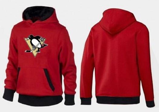 Pittsburgh Penguins Men's Red/Black Big & Tall Logo Pullover Hoodie
