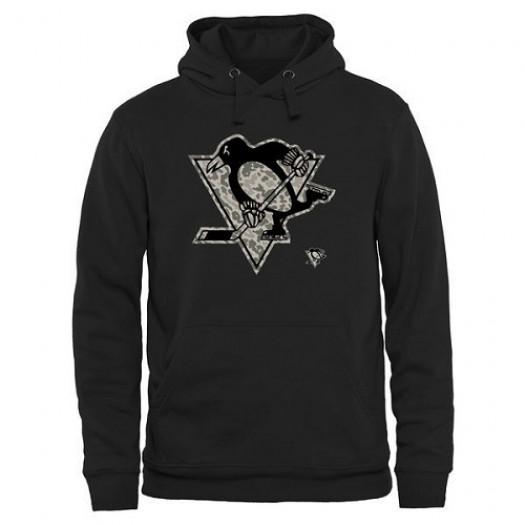 Pittsburgh Penguins Men's Black Rink Warrior Pullover Hoodie