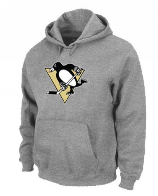 Pittsburgh Penguins Men's Grey Pullover Hoodie