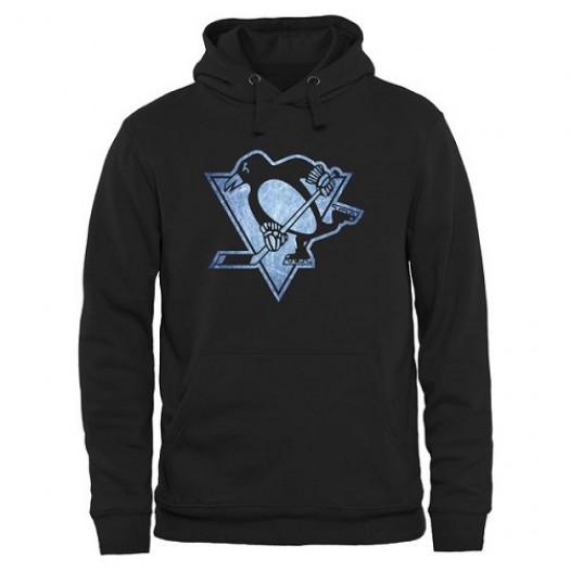 Pittsburgh Penguins Men's Black Rinkside Pond Hockey Pullover Hoodie