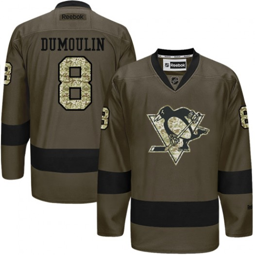 Brian Dumoulin Pittsburgh Penguins Men's Reebok Authentic Green Salute to Service Jersey