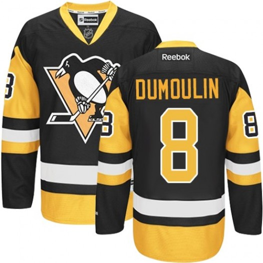 Brian Dumoulin Pittsburgh Penguins Men's Reebok Premier Black/Gold Third Jersey